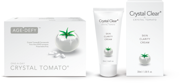 Crystal Tomato® supplements and Crystal Clear® Skin Clarity Cream
