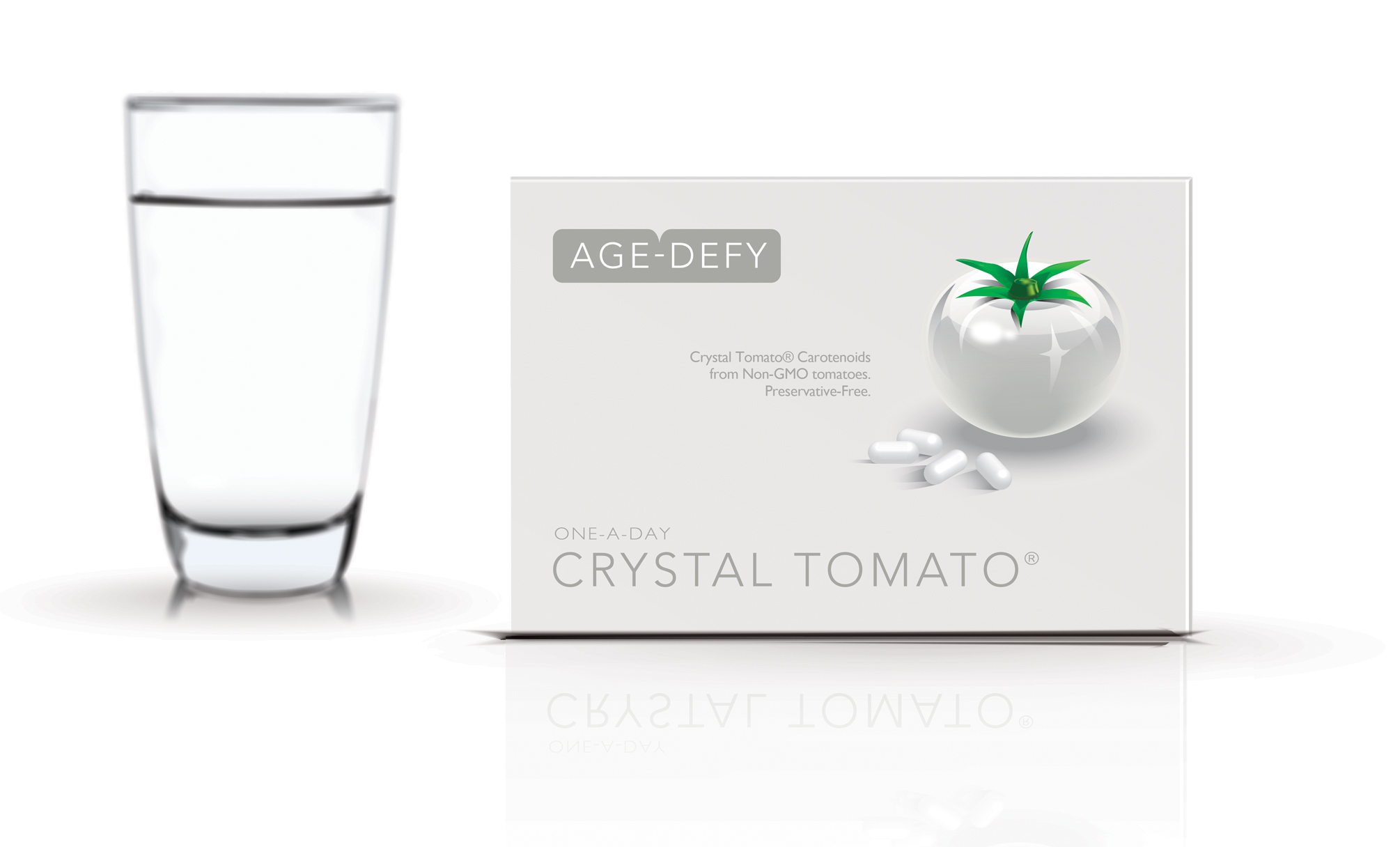 Crystal Tomato® supplements - just one a day for beautiful skin